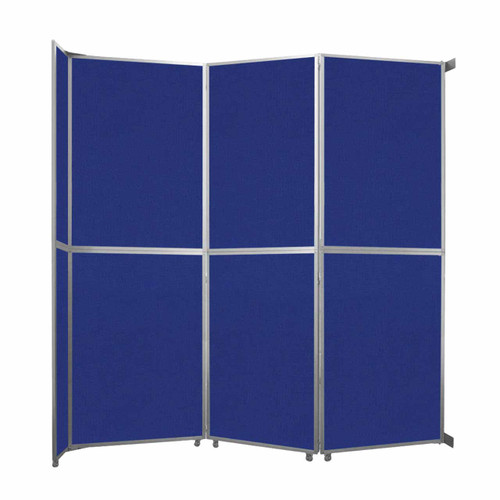 """Operable Wall Folding Room Divider 11'9"""" x 12'3"""" Royal Blue Fabric"""