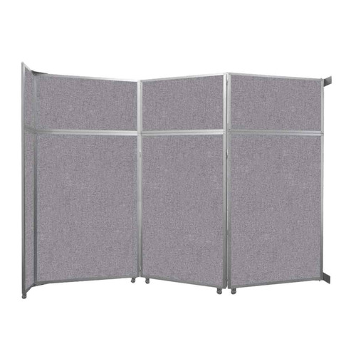 "Operable Wall Folding Room Divider 11'9"" x 8'5-1/4"" Cloud Gray Fabric"