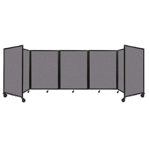 Room Divider 360 Folding Portable Partition 14' x 4' Slate Fabric