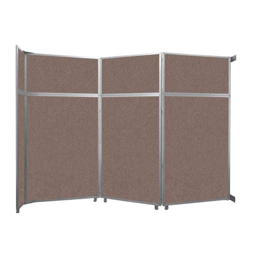 """Operable Wall Folding Room Divider 11'9"""" x 8'5-1/4"""" Latte Fabric"""