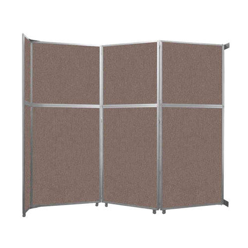 """Operable Wall Folding Room Divider 11'9"""" x 10'3/4"""" Latte Fabric"""