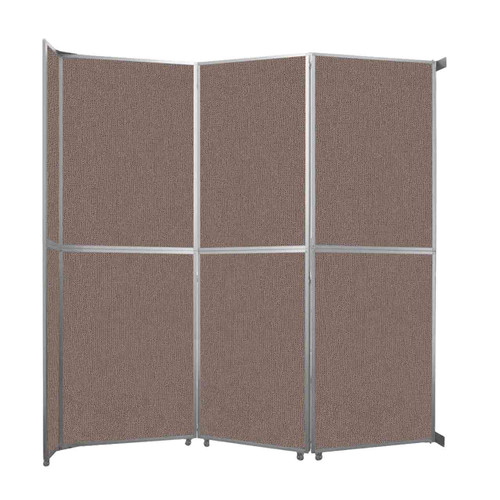 "Operable Wall Folding Room Divider 11'9"" x 12'3"" Latte Fabric"