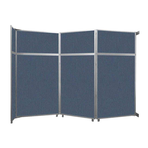 "Operable Wall Folding Room Divider 11'9"" x 8'5-1/4"" Ocean Fabric"