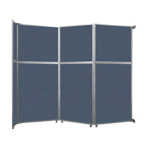 "Operable Wall Folding Room Divider 11'9"" x 10'3/4"" Ocean Fabric"