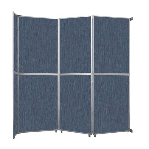"Operable Wall Folding Room Divider 11'9"" x 12'3"" Ocean Fabric"