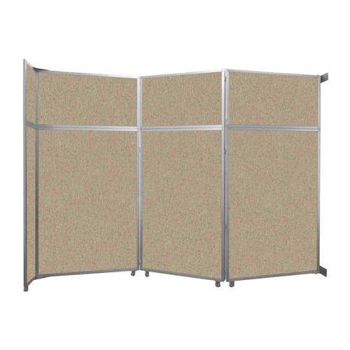 "Operable Wall Folding Room Divider 11'9"" x 8'5-1/4"" Rye Fabric"