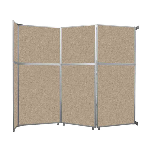 """Operable Wall Folding Room Divider 11'9"""" x 10'3/4"""" Rye Fabric"""