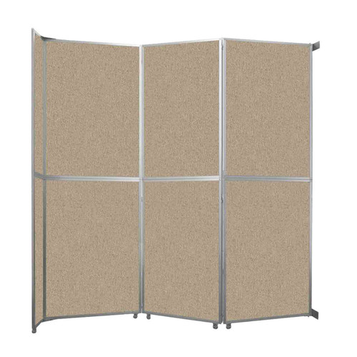 "Operable Wall Folding Room Divider 11'9"" x 12'3"" Rye Fabric"