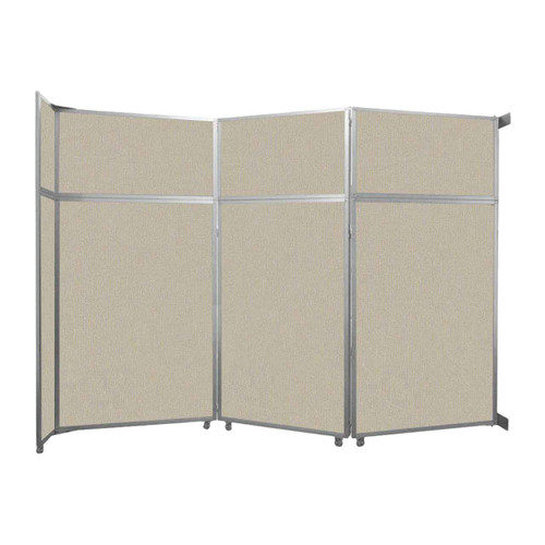 "Operable Wall Folding Room Divider 11'9"" x 8'5-1/4"" Sand Fabric"
