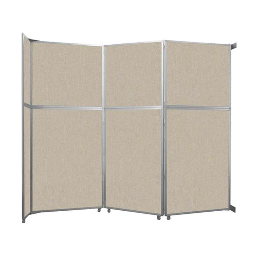 """Operable Wall Folding Room Divider 11'9"""" x 10'3/4"""" Sand Fabric"""