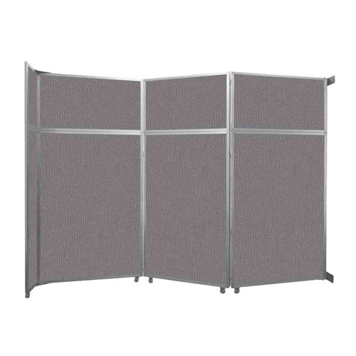 """Operable Wall Folding Room Divider 11'9"""" x 8'5-1/4"""" Slate Fabric"""