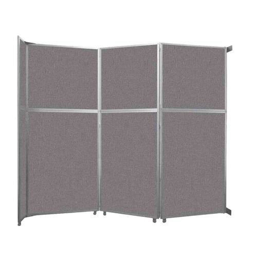"""Operable Wall Folding Room Divider 11'9"""" x 10'3/4"""" Slate Fabric"""