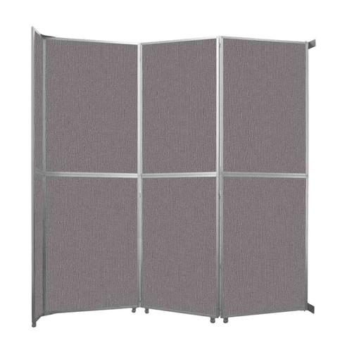 """Operable Wall Folding Room Divider 11'9"""" x 12'3"""" Slate Fabric"""