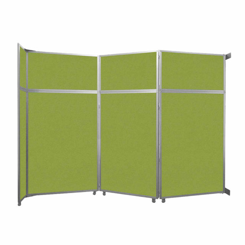 """Operable Wall Folding Room Divider 11'9"""" x 8'5-1/4"""" Lime Green Fabric"""