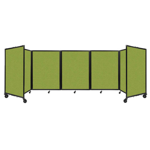 Room Divider 360 Folding Portable Partition 14' x 4' Lime Green Fabric