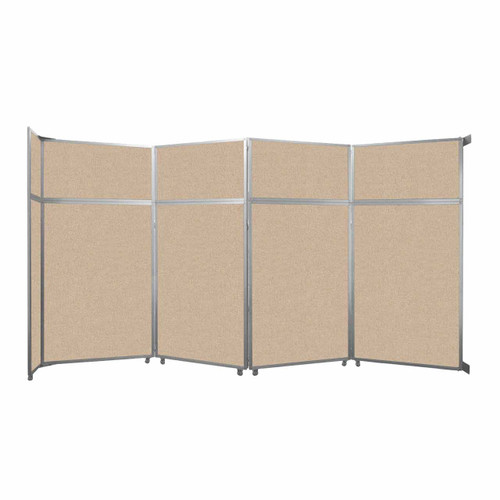"""Operable Wall Folding Room Divider 15'7"""" x 8'5-1/4"""" Beige Fabric"""