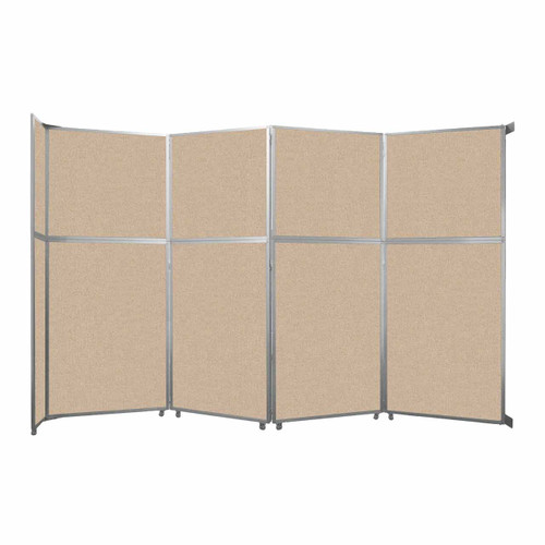 """Operable Wall Folding Room Divider 15'7"""" x 10'3/4"""" Beige Fabric"""