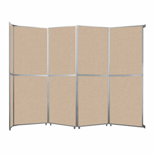 "Operable Wall Folding Room Divider 15'7"" x 12'3"" Beige Fabric"