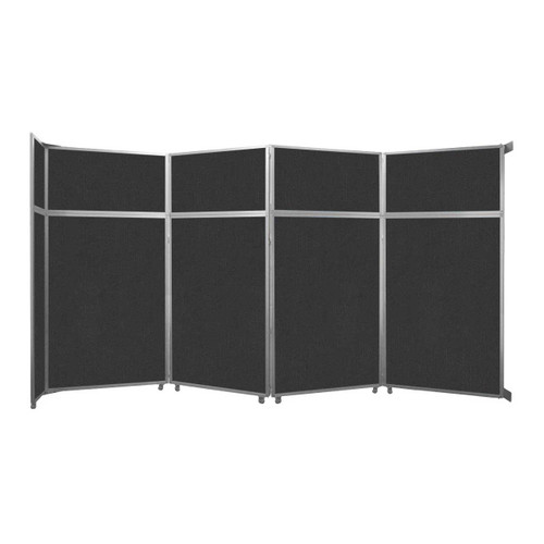 "Operable Wall Folding Room Divider 15'7"" x 8'5-1/4"" Black Fabric"