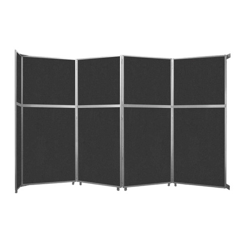 """Operable Wall Folding Room Divider 15'7"""" x 10'3/4"""" Black Fabric"""