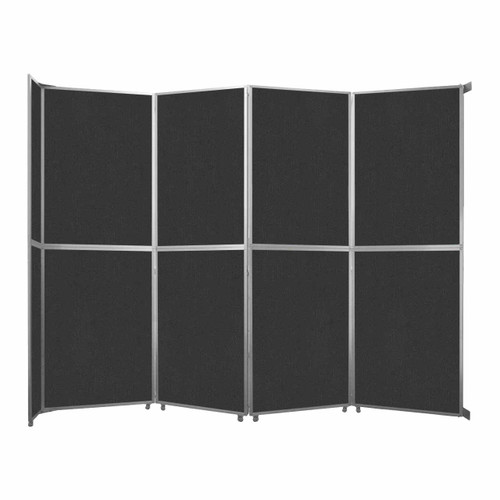 "Operable Wall Folding Room Divider 15'7"" x 12'3"" Black Fabric"