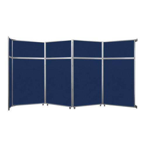 "Operable Wall Folding Room Divider 15'7"" x 8'5-1/4"" Navy Blue Fabric"