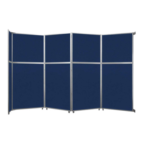 "Operable Wall Folding Room Divider 15'7"" x 10'3/4"" Navy Blue Fabric"