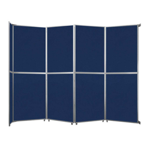 """Operable Wall Folding Room Divider 15'7"""" x 12'3"""" Navy Blue Fabric"""