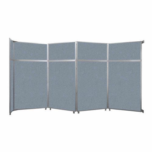 "Operable Wall Folding Room Divider 15'7"" x 8'5-1/4"" Powder Blue Fabric"