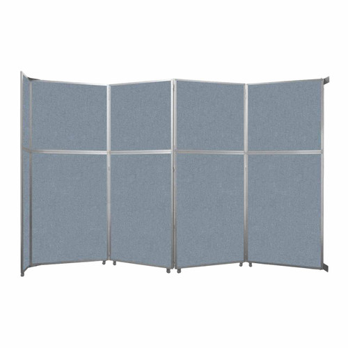 "Operable Wall Folding Room Divider 15'7"" x 10'3/4"" Powder Blue Fabric"