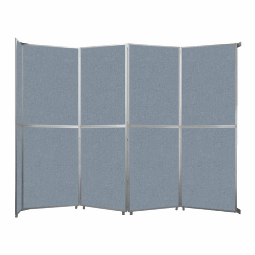 """Operable Wall Folding Room Divider 15'7"""" x 12'3"""" Powder Blue Fabric"""