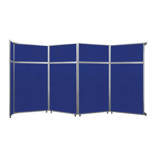 """Operable Wall Folding Room Divider 15'7"""" x 8'5-1/4"""" Royal Blue Fabric"""
