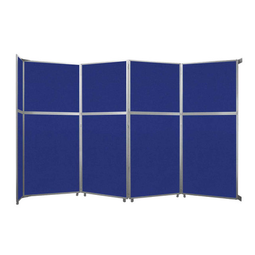 """Operable Wall Folding Room Divider 15'7"""" x 10'3/4"""" Royal Blue Fabric"""