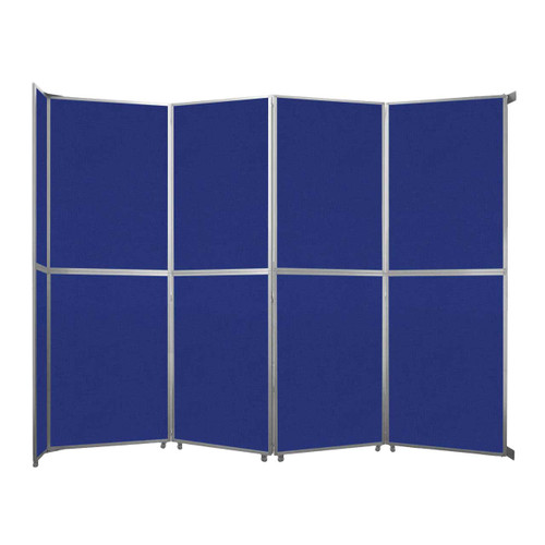 """Operable Wall Folding Room Divider 15'7"""" x 12'3"""" Royal Blue Fabric"""