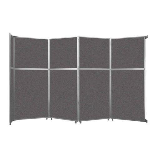 """Operable Wall Folding Room Divider 15'7"""" x 10'3/4"""" Charcoal Gray Fabric"""