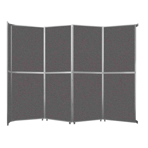 "Operable Wall Folding Room Divider 15'7"" x 12'3"" Charcoal Gray Fabric"