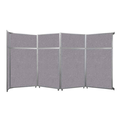 """Operable Wall Folding Room Divider 15'7"""" x 8'5-1/4"""" Cloud Gray Fabric"""