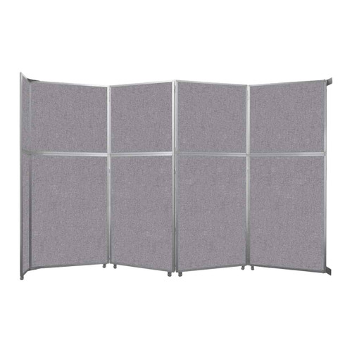 """Operable Wall Folding Room Divider 15'7"""" x 10'3/4"""" Cloud Gray Fabric"""