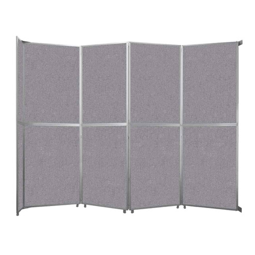 """Operable Wall Folding Room Divider 15'7"""" x 12'3"""" Cloud Gray Fabric"""