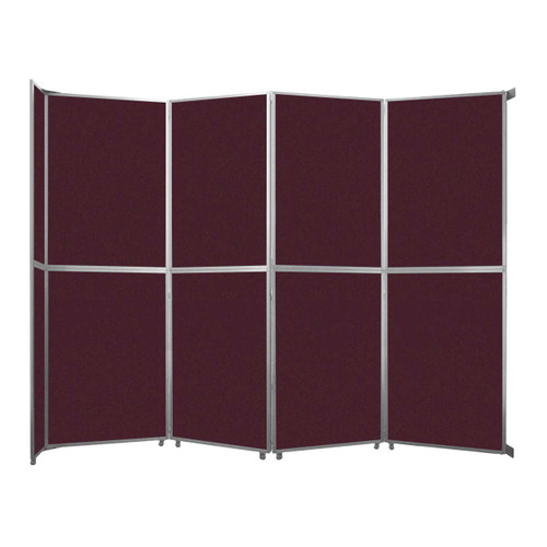 "Operable Wall Folding Room Divider 15'7"" x 12'3"" Cranberry Fabric"
