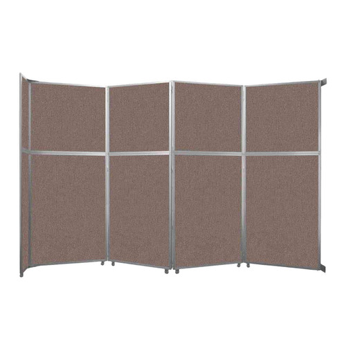 """Operable Wall Folding Room Divider 15'7"""" x 10'3/4"""" Latte Fabric"""