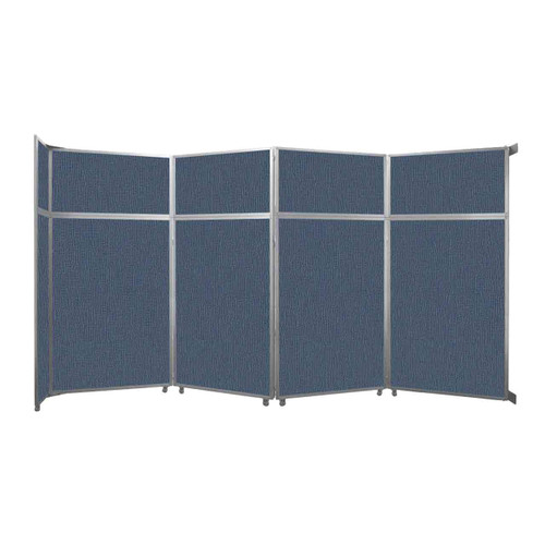 "Operable Wall Folding Room Divider 15'7"" x 8'5-1/4"" Ocean Fabric"