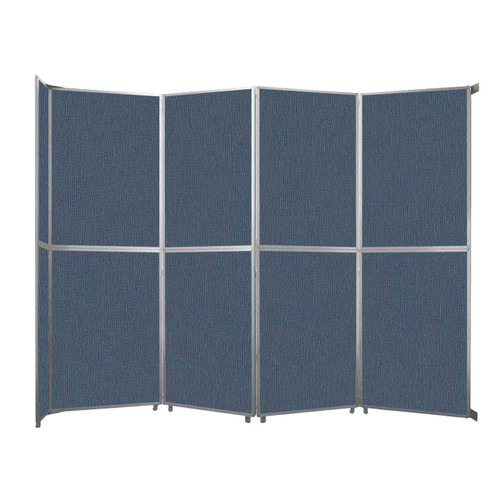"Operable Wall Folding Room Divider 15'7"" x 12'3"" Ocean Fabric"