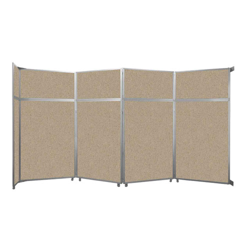 "Operable Wall Folding Room Divider 15'7"" x 8'5-1/4"" Rye Fabric"