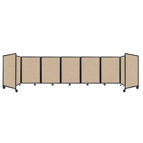 """Room Divider 360 Folding Portable Partition 19'6"""" x 4' Beige Fabric"""