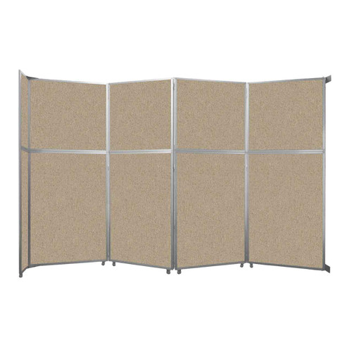 """Operable Wall Folding Room Divider 15'7"""" x 10'3/4"""" Rye Fabric"""