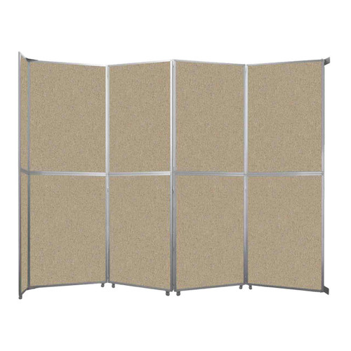 "Operable Wall Folding Room Divider 15'7"" x 12'3"" Rye Fabric"