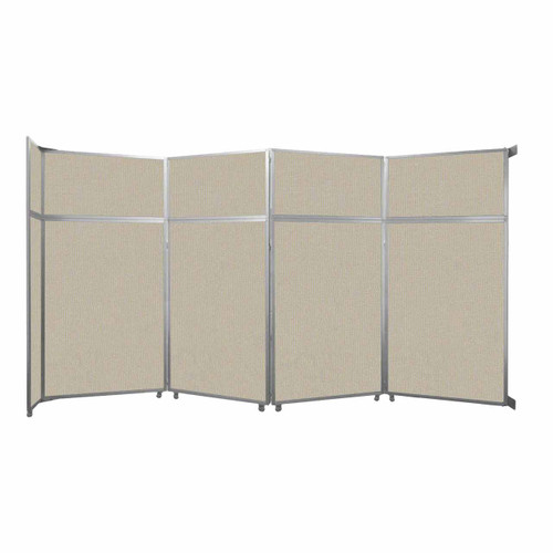 "Operable Wall Folding Room Divider 15'7"" x 8'5-1/4"" Sand Fabric"