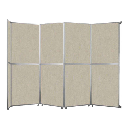 "Operable Wall Folding Room Divider 15'7"" x 12'3"" Sand Fabric"