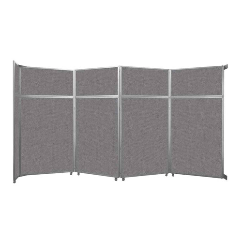 """Operable Wall Folding Room Divider 15'7"""" x 8'5-1/4"""" Slate Fabric"""